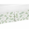 Floral Leaf Girl Baby Nursery Crib Bed Skirt Dust Ruffle by Sweet Jojo Designs - Green and White Boho Watercolor Botanical Woodland Tropical Garden