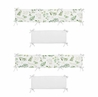 Floral Leaf Girl Baby Nursery Crib Bumper Pad by Sweet Jojo Designs - Green and White Boho Watercolor Botanical Woodland Tropical Garden