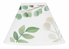 Floral Leaf Lamp Shade by Sweet Jojo Designs - Green and White Boho Watercolor Botanical Woodland Tropical Garden