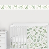 Floral Leaf Wallpaper Wall Border Mural by Sweet Jojo Designs - Green and White Boho Watercolor Botanical Woodland Tropical Garden Bohemian Leaves