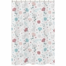 Floral Rose Flowers Bathroom Fabric Bath Shower Curtain by Sweet Jojo Designs - Blush Pink Teal Turquoise Aqua Blue Grey Pop Flower Boho Shabby Chic Modern Colorful Watercolor Wildflower Roses Leaf Daisy Tulip