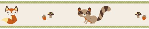 Forest Friends Baby and Kids Wall Paper Border by Sweet Jojo Designs - Click to enlarge