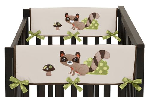 Forest Friends Baby Crib Side Rail Guard Covers by Sweet Jojo Designs - Set of 2 - Click to enlarge