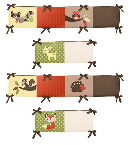 Forest Friends Collection Crib Bumper by Sweet Jojo Designs - Click to enlarge