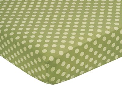 Forest Friends Fitted Crib Sheet for Baby/Toddler Bedding Sets - Tonal Green Dots - Click to enlarge