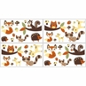 Forest Friends Peel and Stick Wall Decal Stickers Art Nursery Decor by Sweet Jojo Designs - Set of 4 Sheets