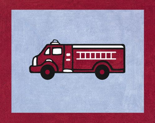 Frankie's Firetruck Accent Floor Rug - Click to enlarge