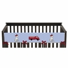Frankie's Firetruck Baby Crib Long Rail Guard Cover by Sweet Jojo Designs