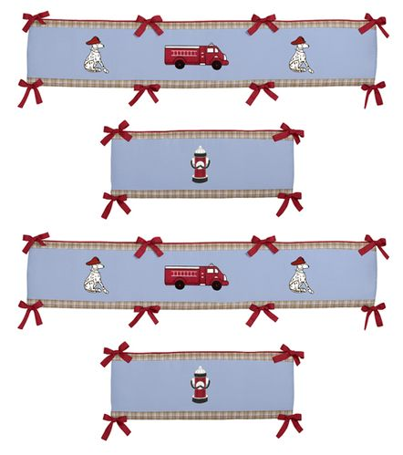 Frankie's Firetruck Collection Crib Bumper by Sweet Jojo Designs - Click to enlarge