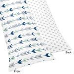 Full Length Double Zippered Body Pillow Case Cover for Grey, Navy Blue and Mint Woodland Arrow Bedding Collection by Sweet Jojo Designs