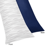 Full Length Double Zippered Body Pillow Case Cover for Navy, Mint and Grey Woodsy Bedding Collection by Sweet Jojo Designs