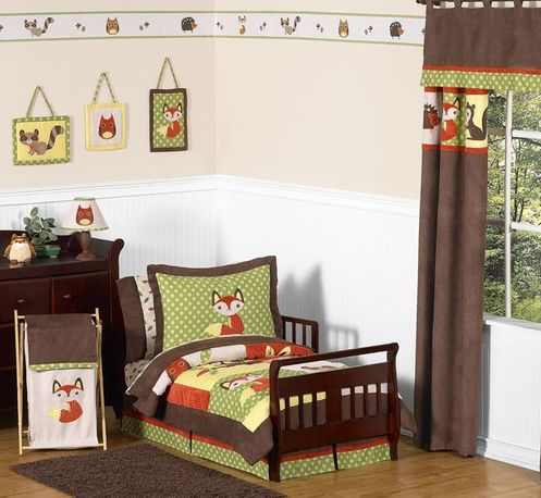 Woodland Forest Animals Toddler Bedding - 5pc Boy Bedding Set by Sweet Jojo Designs - Click to enlarge