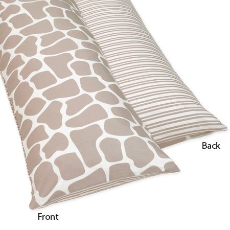 Full Length Double Zippered Body Pillow Cover for Giraffe Bedding Set by Sweet Jojo Designs - Click to enlarge