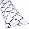 Full Length Double Zippered Body Pillow Cover for Green, Black and White Princess Bedding Set