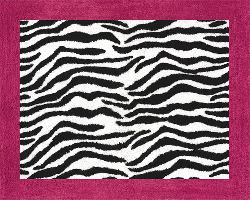 Funky Zebra Accent Floor Rug - Click to enlarge