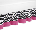 Funky Zebra Bed Skirt for Toddler Bedding Sets by Sweet Jojo Designs