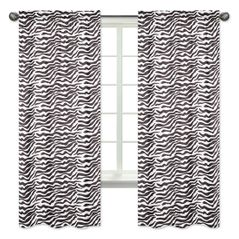 Funky Zebra Collection Window Treatment Panels by Sweet Jojo Designs - Set of 2