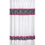 Funky Zebra Kids Bathroom Fabric Bath Shower Curtain