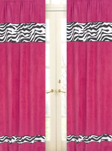 Funky Zebra Window Treatment Panels - Set of 2 - Click to enlarge