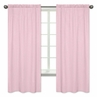 Gingham Window Treatment Panels for Pink French Toile Collection by Sweet Jojo Designs - Set of 2