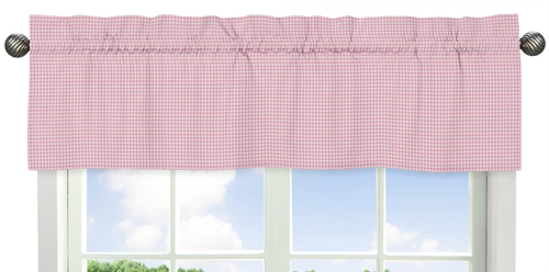 Gingham Window Valance For Pink French Toile Collection By Sweet Jojo Designs Only 21 99