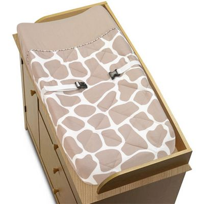 Giraffe Baby Changing Pad Cover by Sweet Jojo Designs - Click to enlarge