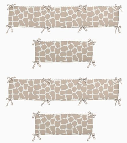 Giraffe Collection Crib Bumper by Sweet Jojo Designs - Click to enlarge