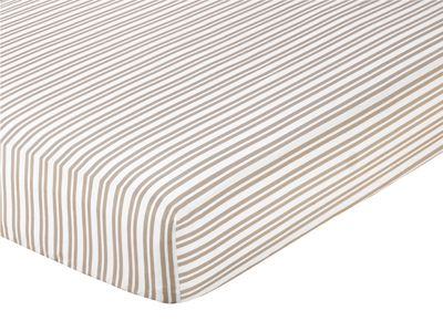 Giraffe Fitted Crib Sheet for Baby/Toddler Bedding by Sweet Jojo Designs - Stripe - Click to enlarge