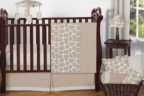 Giraffe Neutral Baby Bedding - 11pc Crib Set by Sweet Jojo Designs - Click to enlarge