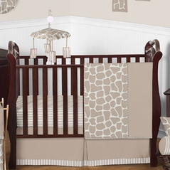 Giraffe Neutral Baby Bedding - 11pc Crib Set by Sweet Jojo Designs