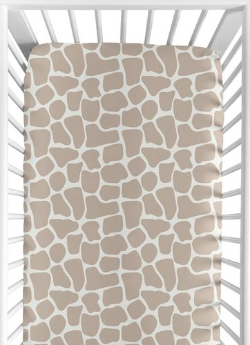 Giraffe Neutral Baby Bedding - 9 pc Crib Set by Sweet Jojo Designs - Click to enlarge