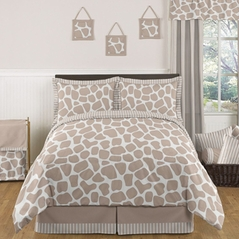 Giraffe Neutral Childrens Bedding - 3 pc Full / Queen Set by Sweet Jojo Designs