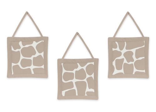 Giraffe Neutral Wall Hanging Accessories by Sweet Jojo Designs - Click to enlarge