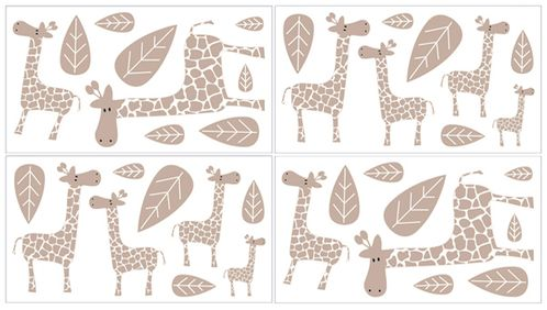 Giraffe L And Stick Wall Decal Stickers Art Nursery Decor By Sweet Jojo Designs Set Of 4 Sheets