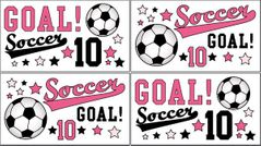 Girls Soccer Peel and Stick Wall Decal Stickers Art Nursery Decor by Sweet Jojo Designs - Set of 4 Sheets