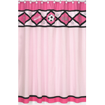 Girls Soccer Kids Bathroom Fabric Bath Shower Curtain