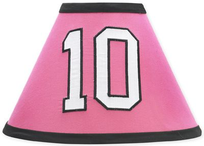 Girls Soccer Lamp Shade by Sweet Jojo Designs - Click to enlarge
