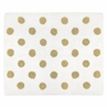 Gold and White Polka Dot Accent Floor Rug or Bath Mat for Turquoise Watercolor Floral Collection by Sweet Jojo Designs