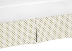 Gold and White Polka Dot Crib Bed Skirt for Amelia Baby Bedding Sets by Sweet Jojo Designs