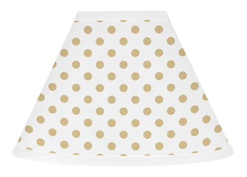 Gold and White Polka Dot Lamp Shade for Butterfly Floral Collection by Sweet Jojo Designs - Click to enlarge