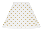 Gold and White Polka Dot Lamp Shade for Butterfly Floral Collection by Sweet Jojo Designs