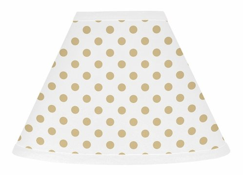 Gold and White Polka Dot Lamp Shade for Watercolor Floral Collection by Sweet Jojo Designs - Click to enlarge