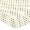 Gold and White Polka Dot Print Baby or Toddler Fitted Crib Sheet for Big Bear Collection