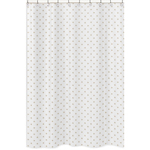 Gold and White Star Bathroom Fabric Bath Shower Curtain for Celestial Collection by Sweet Jojo Designs