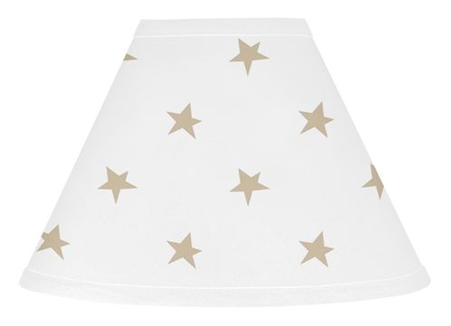 Gold and White Star Lamp Shade for Celestial Collection by Sweet Jojo Designs - Click to enlarge