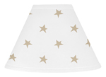 Gold and White Star Lamp Shade for Celestial Collection by Sweet Jojo Designs