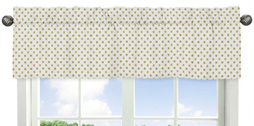 Gold Polka Dot Window Valance for Amelia Collection by Sweet Jojo Designs - Click to enlarge
