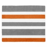 Gray and Orange Stripe Accent Floor Rug by Sweet Jojo Designs