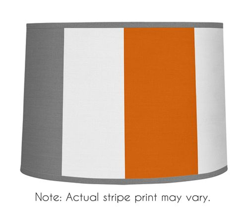Gray and Orange Stripe Lamp Shade by Sweet Jojo Designs - Click to enlarge