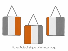 Gray and Orange Stripe Wall Hanging Accessories by Sweet Jojo Designs